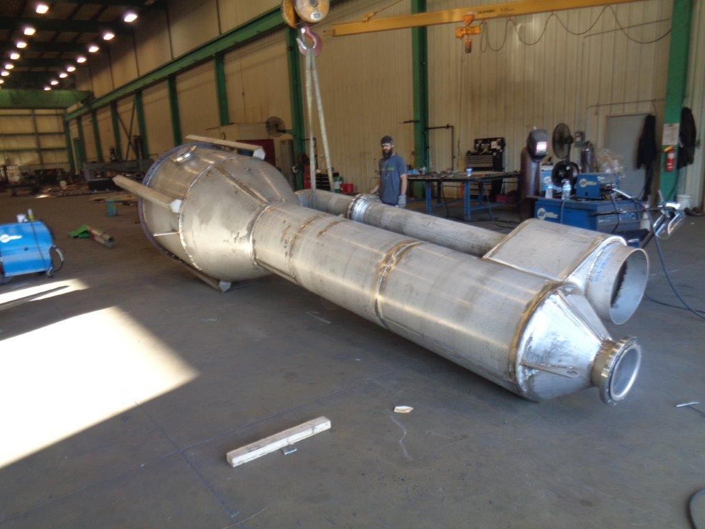 Fabricated stainless steel Catalytic Converter w/ Pipe Bundle