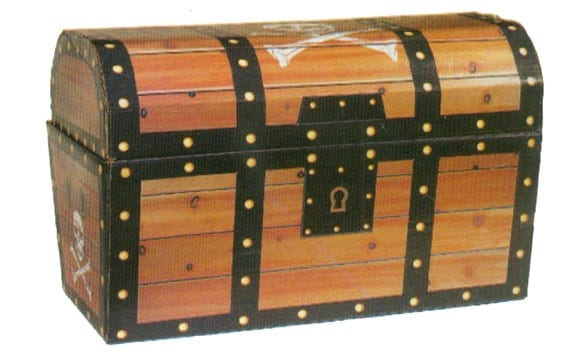 15 Inch Collapsable Treasure Chest-0