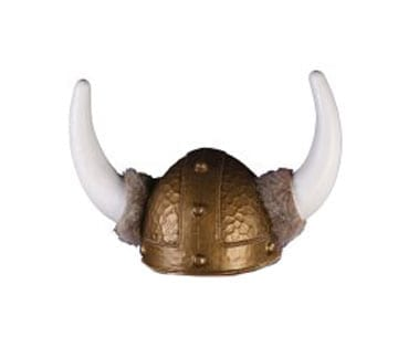 Deluxe Viking Hat with Attached Fur-0