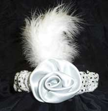 Headband with Rose - Silver-0