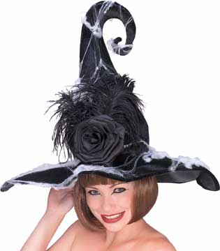 Witch Hat with Black Rose-0