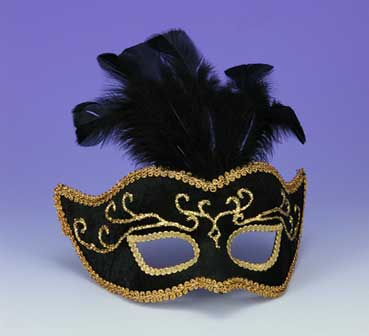 Gold Mask with Feathers-0