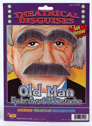 Old Man Eyebrows & Moustache-0