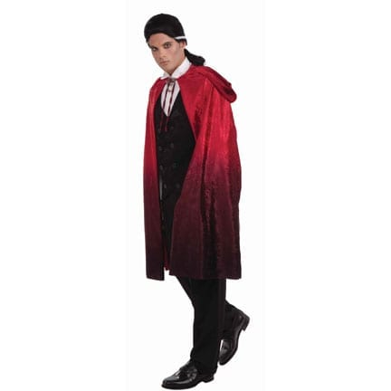 45 Inch Red Faded Cape-0
