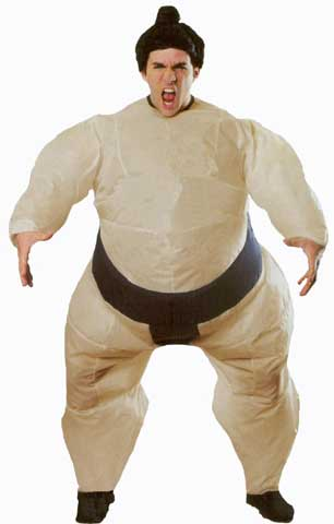 Inflatable Sumo Adult Costume-0