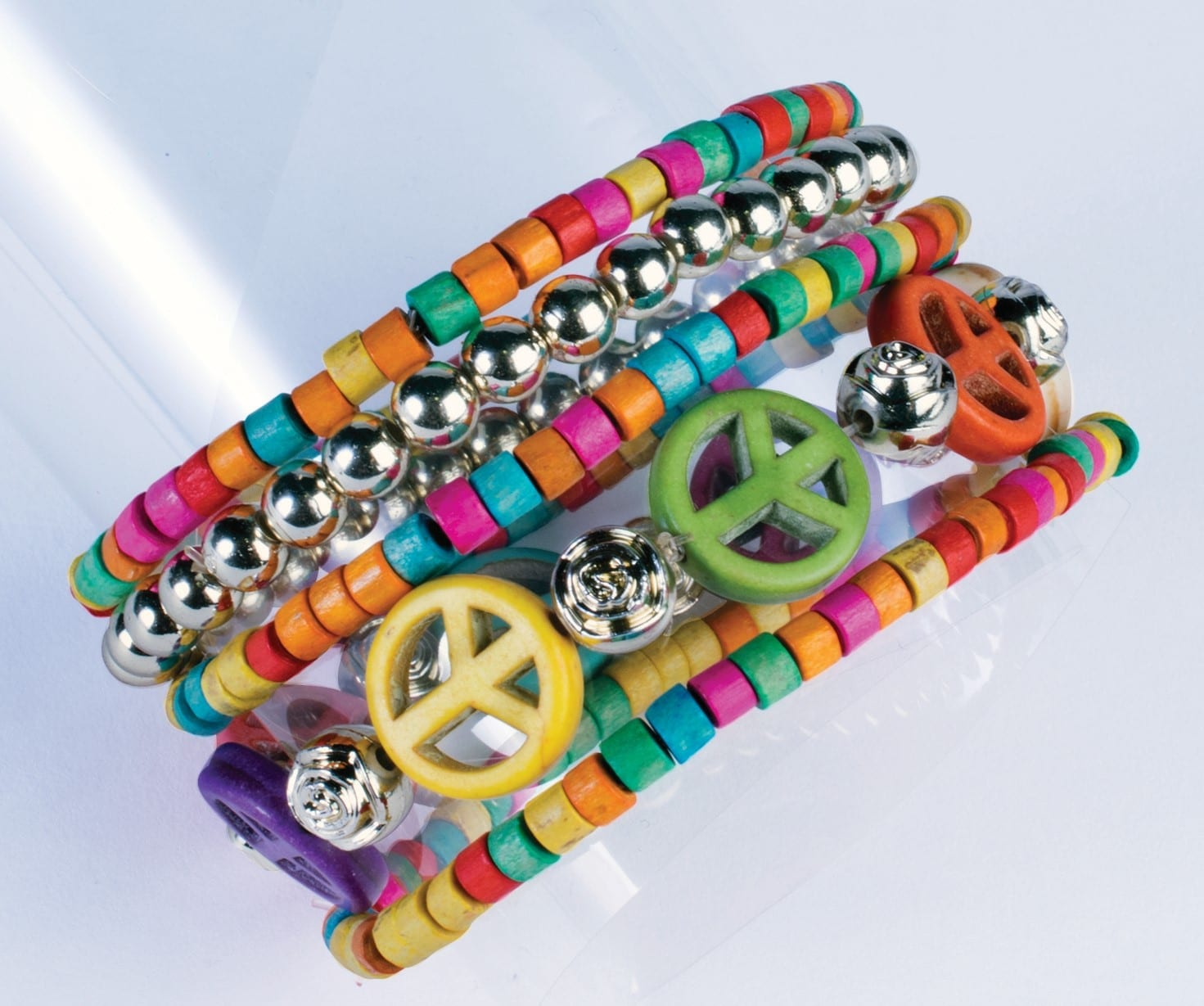 Wooden Peace Beads and Bracelet-0