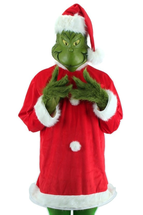 Dr. Suess Grinch - The Grinch Santa Costume Deluxe-0