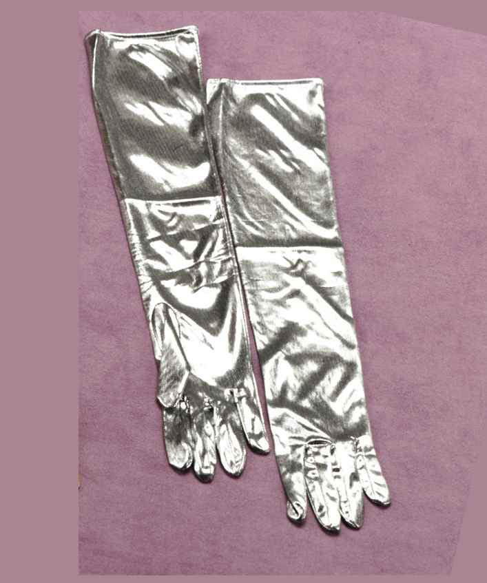 Silver Lame Gloves-0